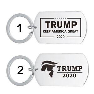 Stainless-Steel-Keychain-Trump-2020-Pendant-Keyring-Key-DIY-Key-chain-Gift-U-ti