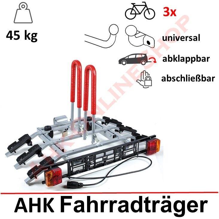 AHAKA Fahrradtr/äger Anh/ängerkupplung f/ür 2 Fahrr/äder Hecktr/äger AHK Fahrradhecktr/äger klappbar mit Schnellkupplung