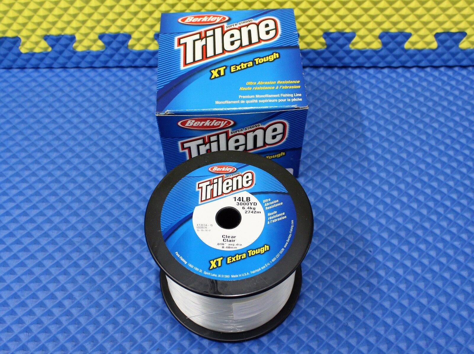 Berkley Trilene Xt Extra Tough 14 lb (environ 6.35 kg) 3000 Yd (environ 2743.20 m) Ligne De Pêche Clair XT3014-15