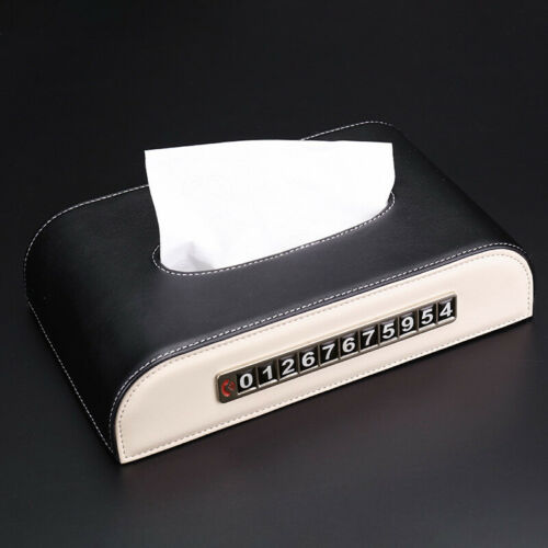 1x Rectangular Car Tissue Box Container Holder Case Parking Number Plate Box Hot