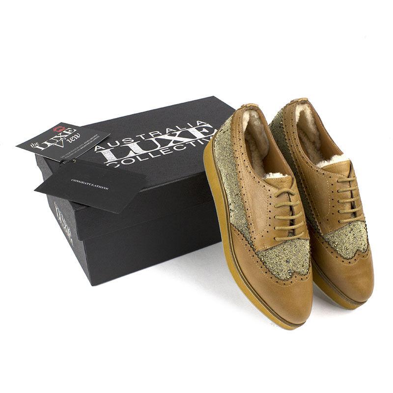 Elegante Para Hombre Australia Luxe Collective Beefeater Flatform Oxford Tan