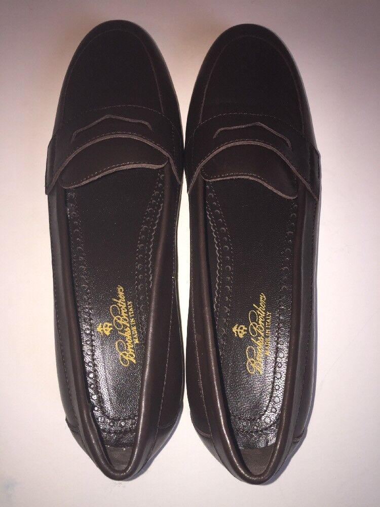 Brooks Brossohers Classic Marroneee Slip Slip Slip On Leather Penny Loafers donna Dimensione 7AA  248 6ec700