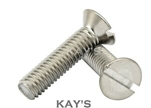 M6 6MM A2 STAINLESS STEEL COUNTERSUNK CSK HEAD BOLT WITH PLAIN NUT AND WASHER