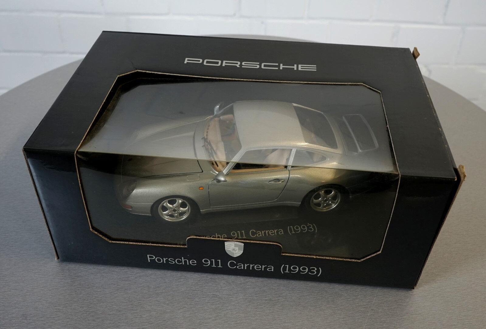 BURAGO PORSCHE 911 Carrera (1993) argent P.O. Box 11-0040 - Scale Modèle Voiture Neuf dans sa boîte