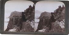 Pylos île de Sphacteria Grèce Greece Photo Stéréo Stereoview Vintage
