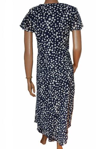 UK 10-14 Ladies 2pc Blue Polka Dot Skirt /& Top Wedding Set C006