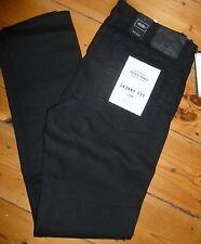 Jack & Jones Jeans Liam Skinny Fit Elástico Negro Talla W36 largo pierna W36X34L Nuevo con etiquetas