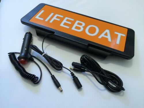 LED Univisor LIFEBOAT with Orange visor Sign Flash Crew