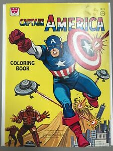 Details about Whitman #1011 Captain America Coloring Book 1966 Marvel  Comics UNUSED NM