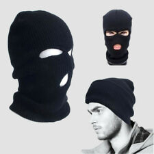 3 Hole Full Face Mask Winter Warm Ski Mask Beanie Plain Colors Knitted Cap  Hat 97c6159d46ad
