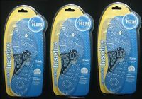 3 Massaging Insoles Shoe Sizes 10-11 For Men 1 Pair Per Pack Total 3 Pairs