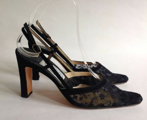 Shoe Hope 3 Leather 5 3 Heel Black Lace amp; Uk 5 36 Suede Back Eu Emma 5