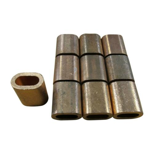Copper Ferrules 9MM X10 Oval Crimping Sleeves for Stainless Wire Rope