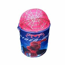 POP UP FOLDABLE CLOTHES LAUNDRY HAMPER SPIDER-MANS HAMPER STORAGE BIN...........