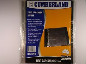 Cumberland-First-Day-Cover-Refills-3-Division-Packet-of-10-Pages