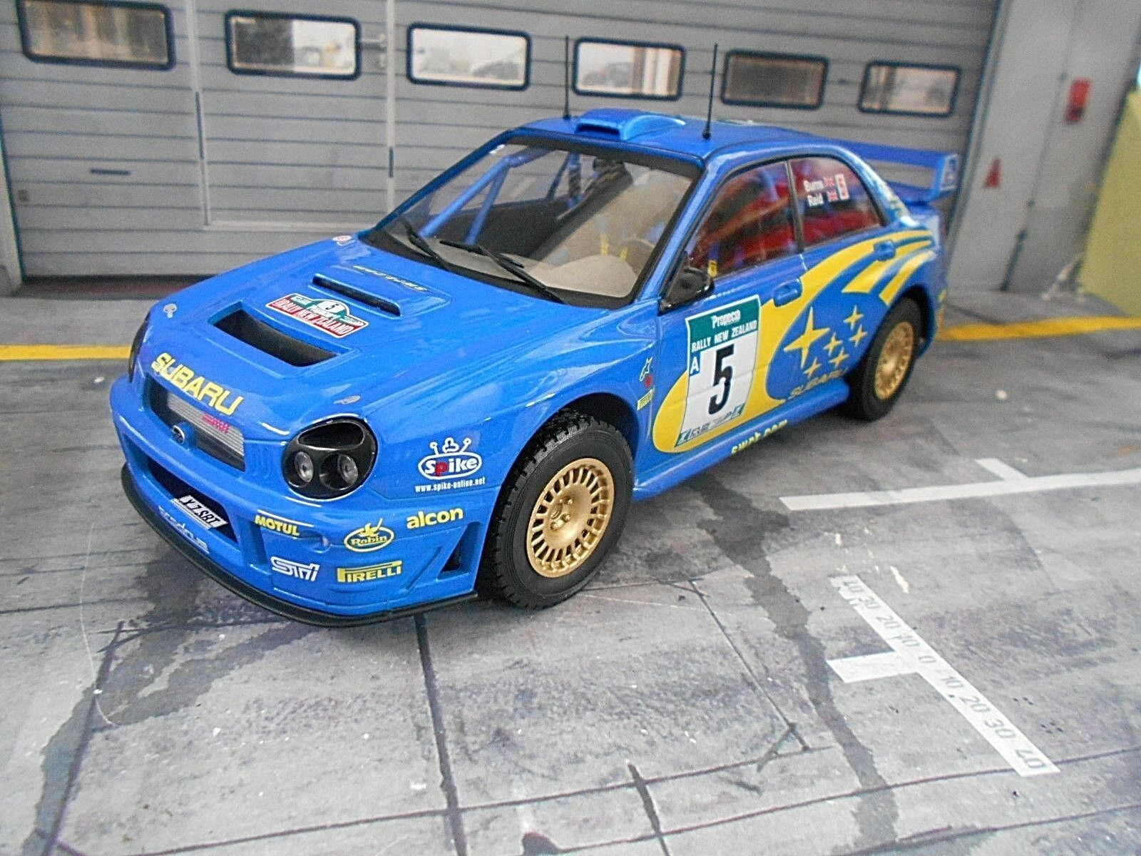Subaru Impreza WRC Rallye 2001 New Zealand 555  5 Burns NZ IXO ALTAYA 1 18