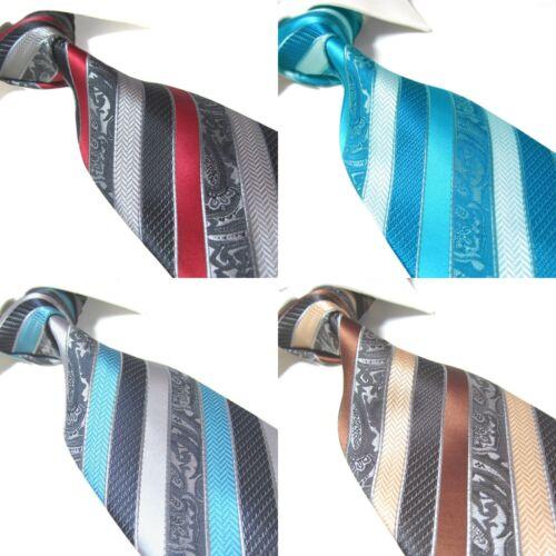 "4 Colors Extra Long Necktie Microfibre Florals Jacquard Polyester XL Tie 63/"""