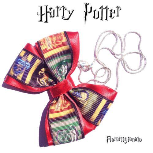 Collana Fiocchi Harry Potter Accessori Gadget Collezione Fatte a Mano Cosplay