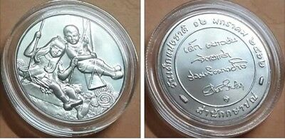 Coins & Paper Money Thailand Sincere Thailand Unc Medal Coin Comm Children S Day Rama X New 2019