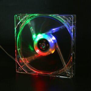 5V 120mm USB Cooling Fan LED Colorful Heatsink Marine PC CPU Computer Cooler Fan