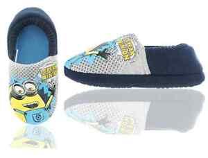 Minions Para Niños Zapatillas, Minions SONIDO que habla Zapatillas-Gris-Talla 6-12