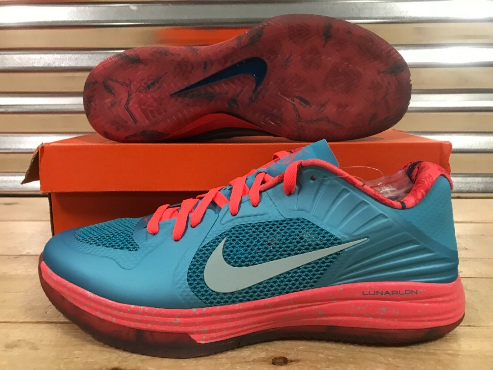 Nike Lunar Hypergamer Low pink Classic Limited shoes Turquoise SZ ( 511368-404 )