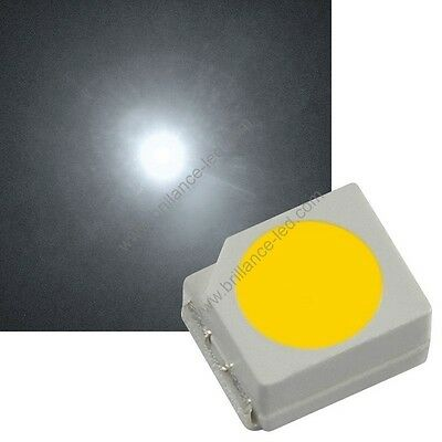 189//25# LED CMS Blanche PLCC2 3000mcd -25pcs- 3528