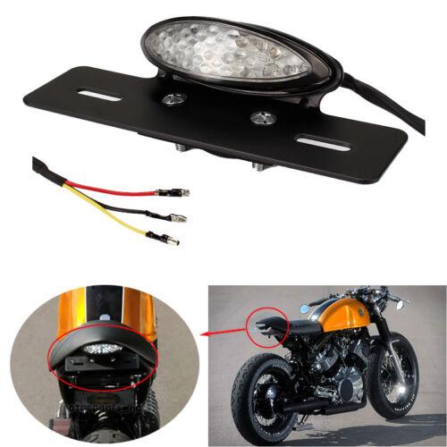Custom Motorcycle Parts Rear 12V LED Brake Stop License Number Plate Tail Lights