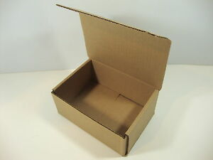 50 7 x 4 x 3 White Corrugated Mailers Die Cut Tuck Flap Boxes Free Shipping