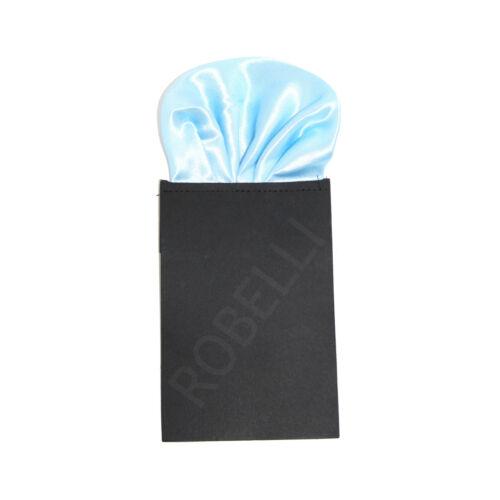 21 Colours Available Men/'s Pre-Folded Satin Wedding Pocket Square