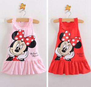 3e676db68d41c Lovely Enfants Bébé Fille Minnie Mouse Robe Soirée Gilet Jupe Tout ...