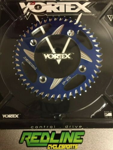2002-2019 Yamaha YZ 85 rear Vortex 46 tooth blue aluminum sprocket
