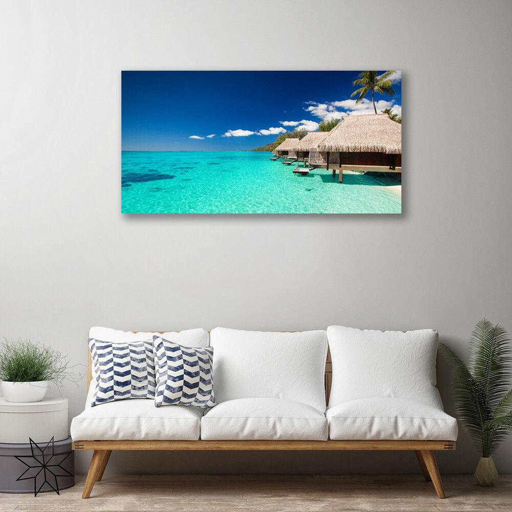 Canvas print print print Wall art on 100x50 Image Picture Sea Landscape d51486