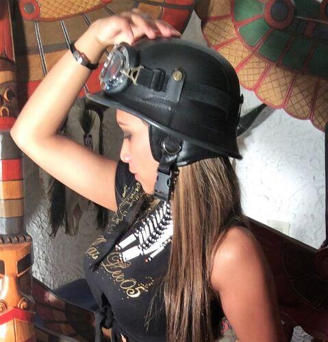 Helm+Chrom Brille Biker Helm Bulzeye+Chrom Brille Chopper Helm+Chrom Brille XL
