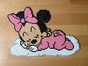 pixel art perles a repasser baby minnie sur son nuage de disney ebay. Black Bedroom Furniture Sets. Home Design Ideas