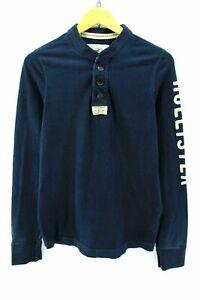 Hollister-Men-039-s-T-Shirt-Size-M-in-Blue-Color-100-Cotton-Long-Sleeve-EF1473