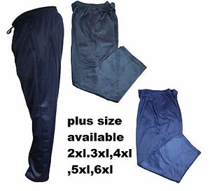 Mens-Big-King-Size-Silky-Jogging-Joggers-Tracksuit-Bottoms-Trousers-Pants-New