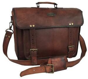 16-034-Large-brown-Soft-Leather-bag-for-men-messenger-shoulder-bag-mens-Laptop-Bag