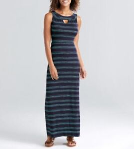 BRAVISSIMO-Ladies-Navy-Turquoise-Keyhole-Maxi-Dress-Evening-Casual-Summer-BR67