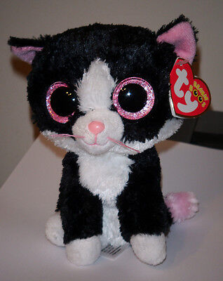 """Ty Beanie Boos ~ PEPPER the 6"""" Cat ~ NEW RED HEART TAG~ MINT with MINT TAGS"""
