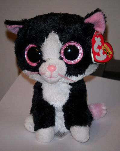 Ty Beanie Boos ~ PEPPER the Cat (Glitter/Sparkle Eyes)(6 Inch) NEW MWMT