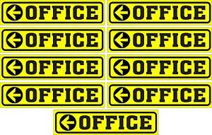 LOT-OF-9-GLOSSY-STICKERS-OFFICE-WHIT-LEFT-ARROW-FOR-INDOOR-OR-OUTDOOR-USE