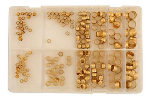 200 pièces Connect 31888 Assorted Imp Brass Barrel /& Stepped olives Box