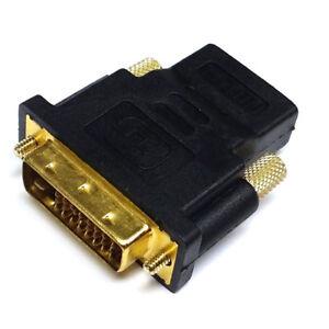 HDMI-femmina-Adattatore-a-DVI-Maschio-M-F-Connettore-Per-HDTV-Nero-Nuovo-su