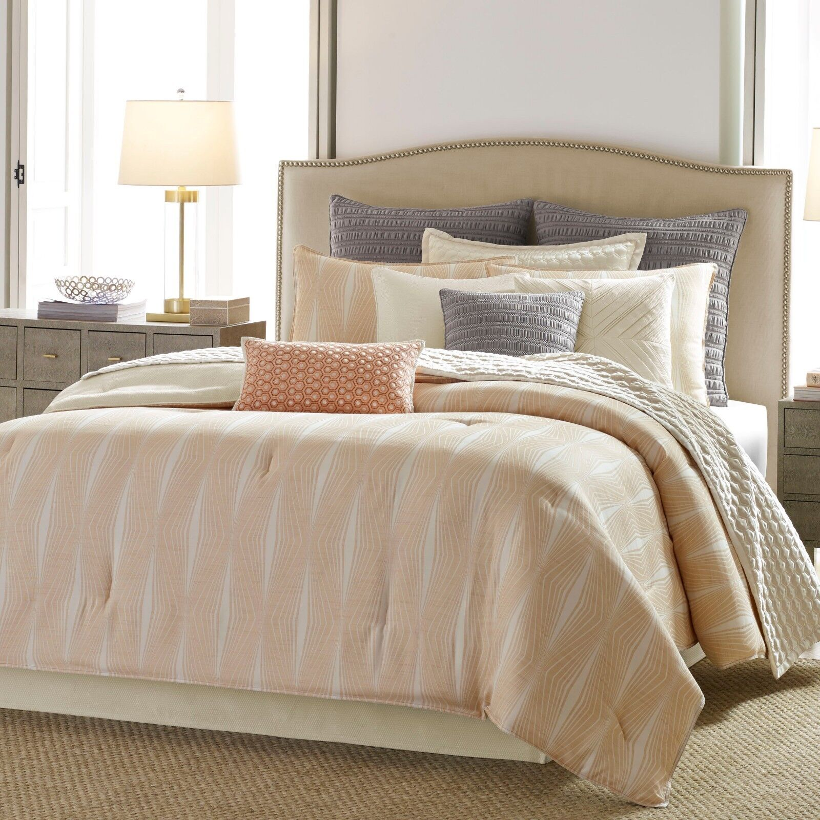 New Candice Olson 4 Piece Jacquard Comforter Sets Queen Variety colors