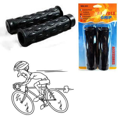 2 Manopole Bici Universali Manubrio Bicicletta Ergonomiche Antiscivolo Nere 275
