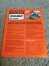 Yanmar Marine Diesel Engine 3GMF Dealer Sales Brochure Sheet Specifications