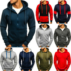 Kapuzenpullover Hoodie Sweatshirt Pullover Pulli Sport Herren BOLF 1A1 Basic