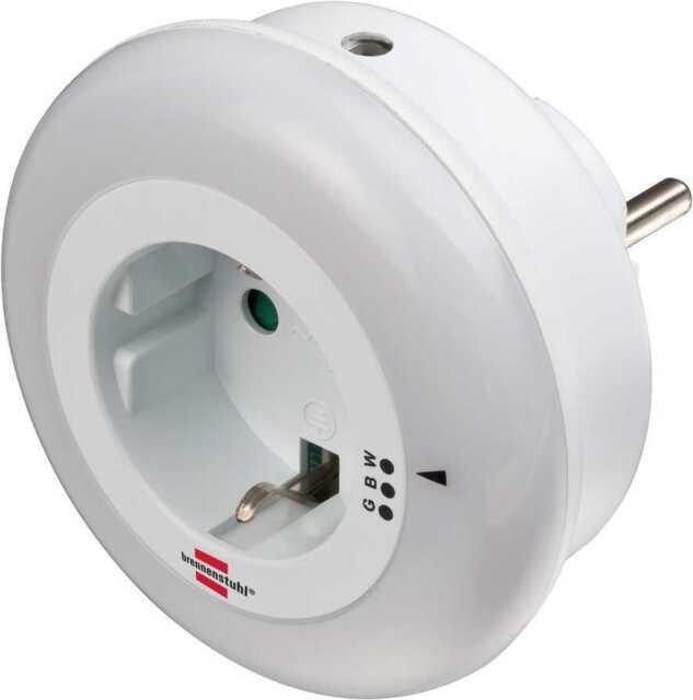Automatisches LED Nachtlicht Kinderlicht Flurlicht in Weiß für die Steckdose