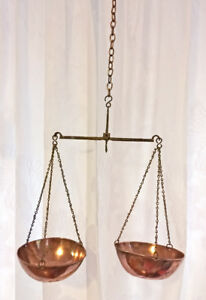Antique-English-Copper-Brass-Iron-Weight-Scales-Birmingham-England